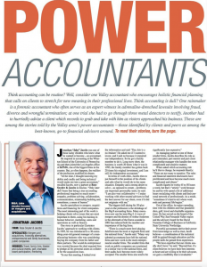 "Jake Jacobs, featured ""Power Accountant"" in San Fernando Valley Business Journal"